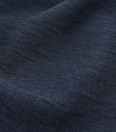 Crêpe viscose texturé - bleu nuit