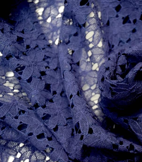 Dentelle Rosa - Bleu indigo