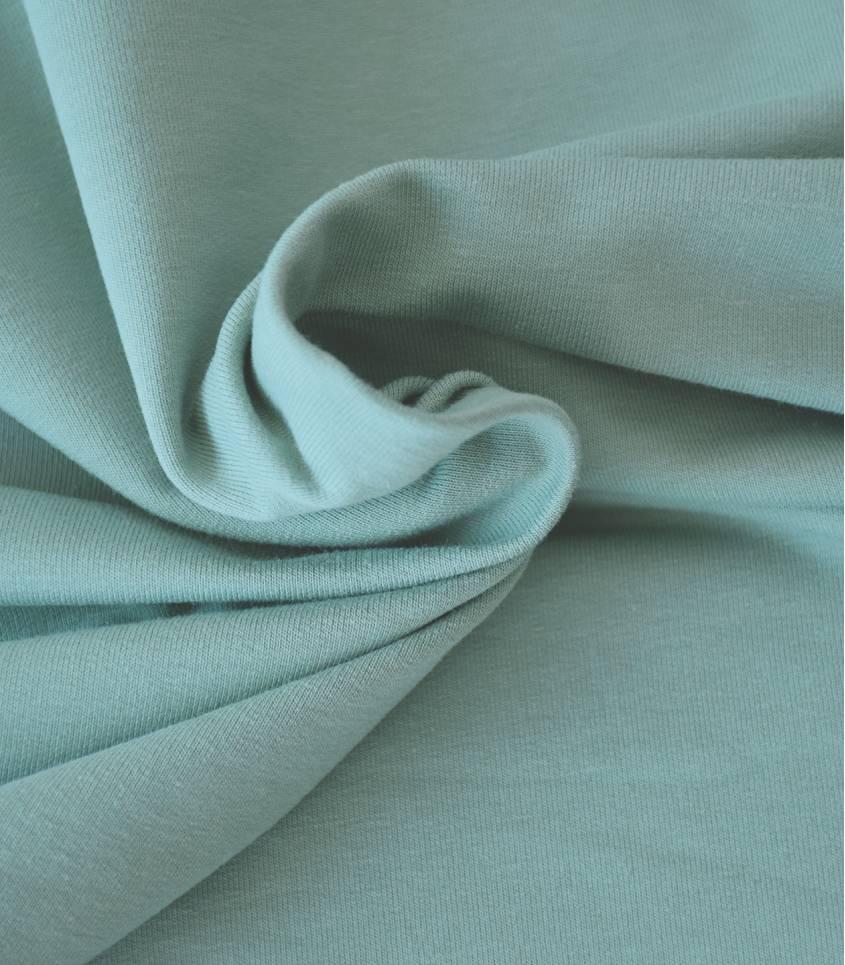 Tissu French Terry coton bio - Vert amande