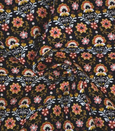 Tissu velours milleraies Indira - Noir