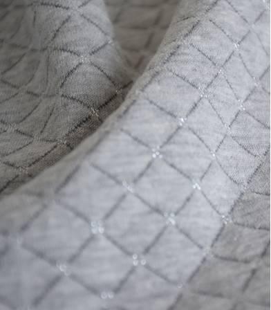 Jersey matelassé gris/argent