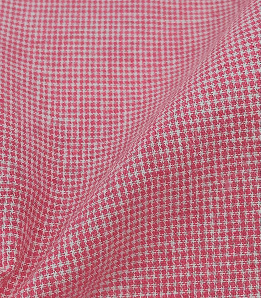 Tissu Pied de puce - rouge