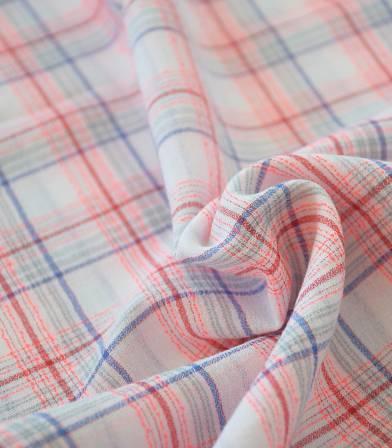 Tissu à carreaux Boréal - néon