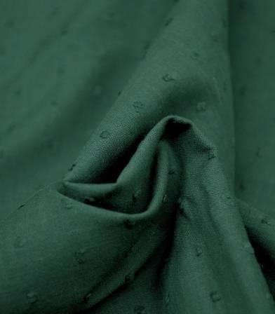 Tissu Plumetis vert cactus