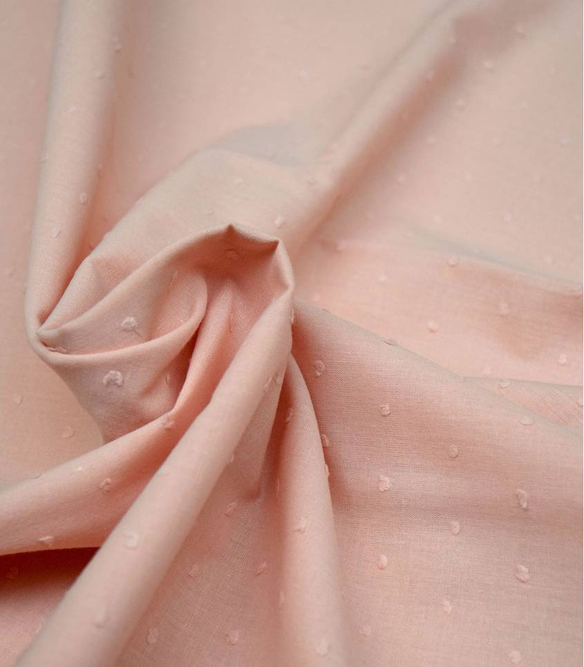 Plumetis rose pêche