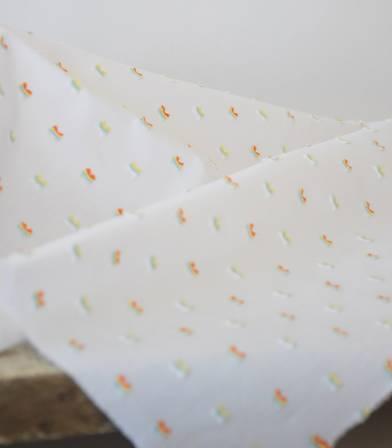 Tissu plumetis multico