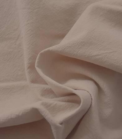 Tissu coton lavé - Beige