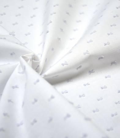 Tissu Plumetis bicolore nuage/blanc