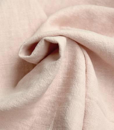 Tissu Lin lavé dusty pink