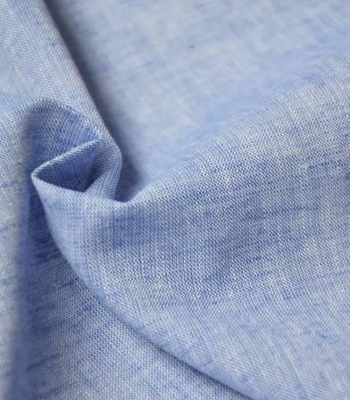 Tissu Lin coton - azur