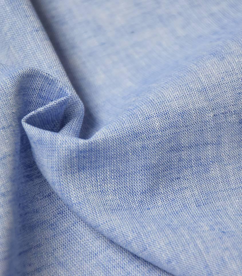 Tissu Lin/coton - azur