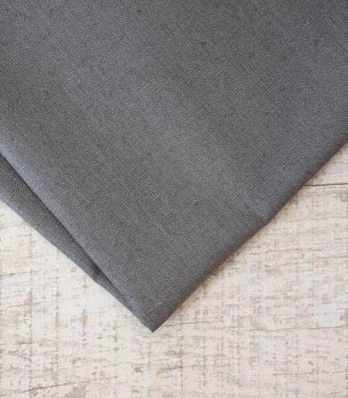 Tissu lin enduit - Poivre gris