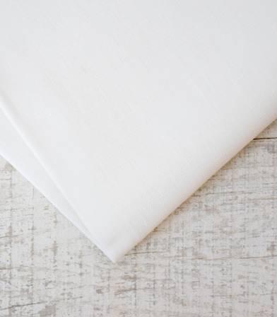 Tissu lin enduit blanc