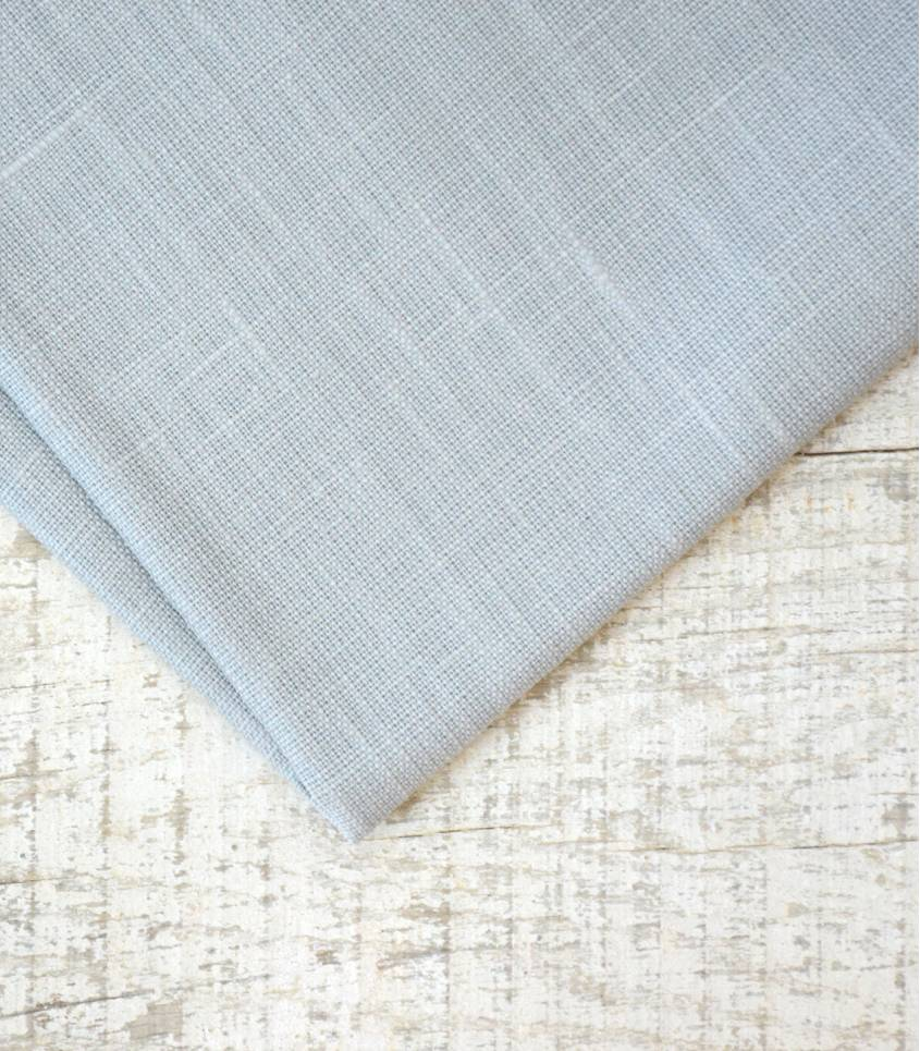 Tissu Lin enduit gris clair