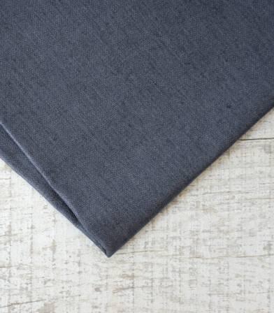 Tissu lin enduit gris foncé