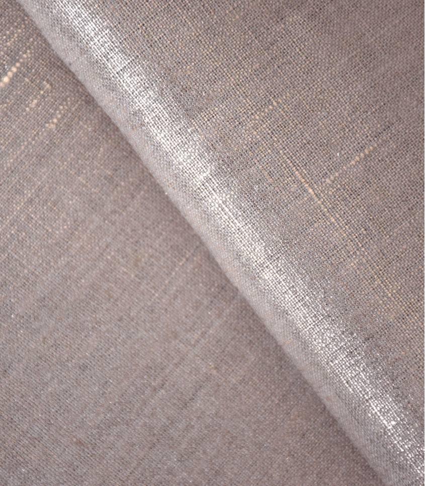 Tissu Lin lamé cuivre
