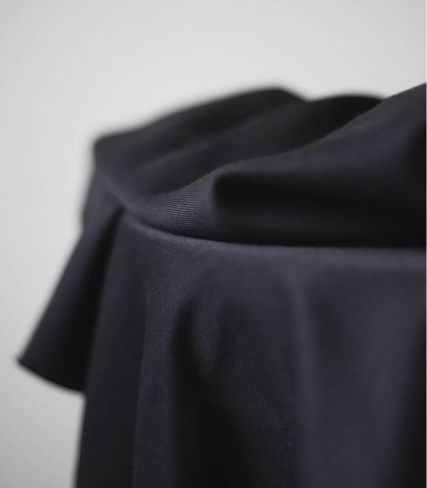 Tissu tencel sanded - Black