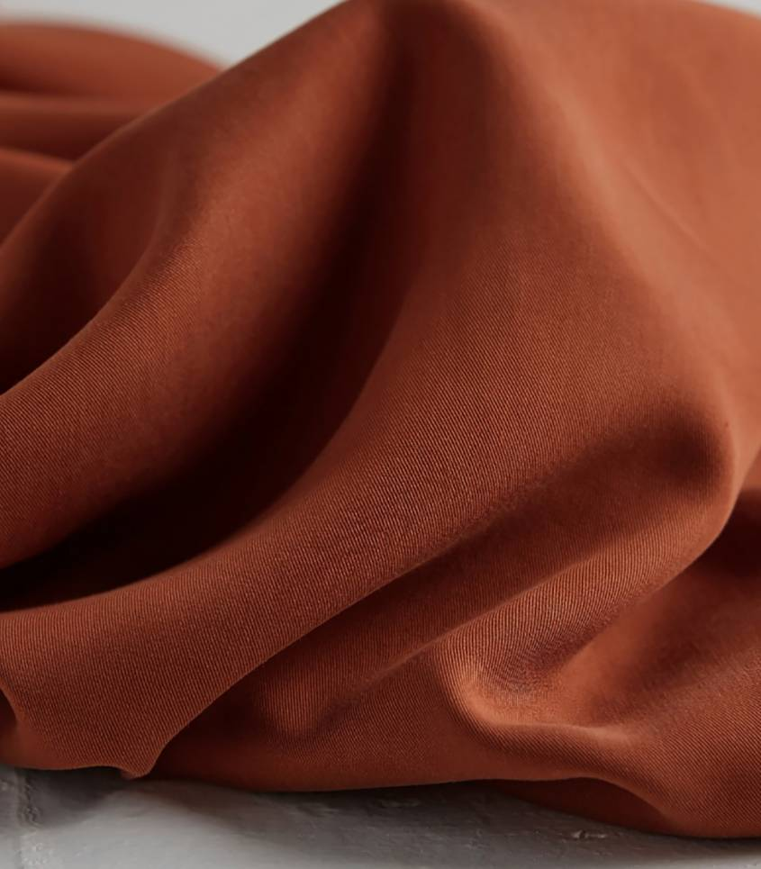 Tissu tencel twill - Rust