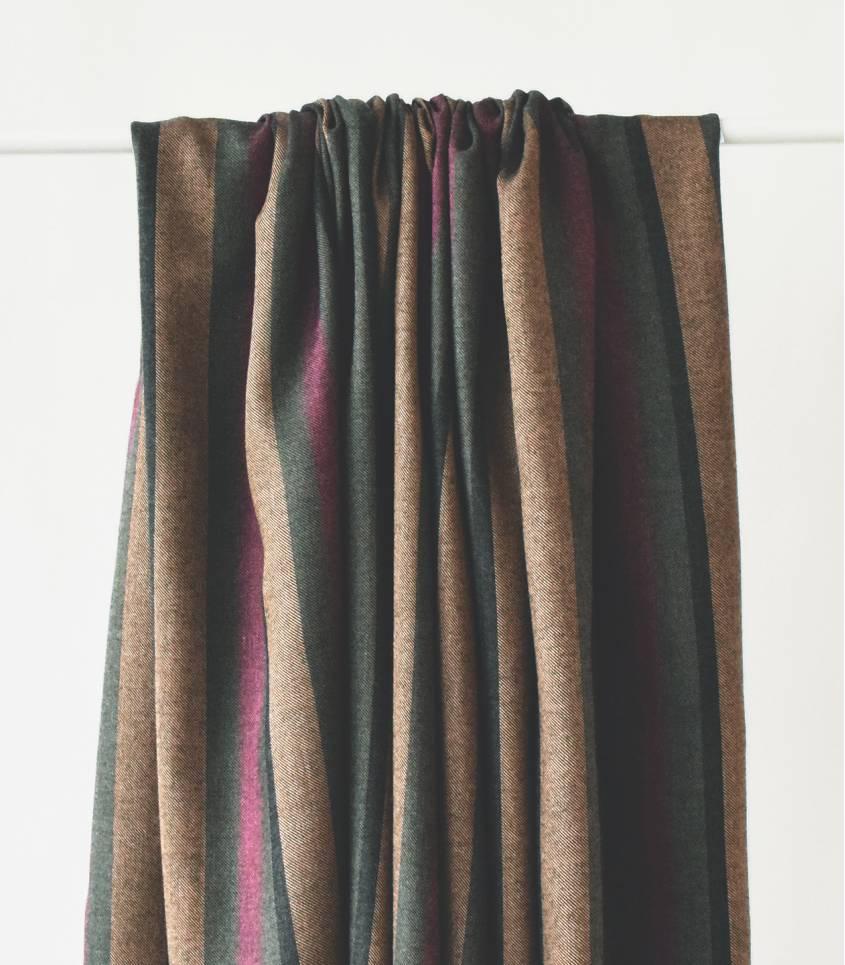 Tissu twill rayures - Bronze