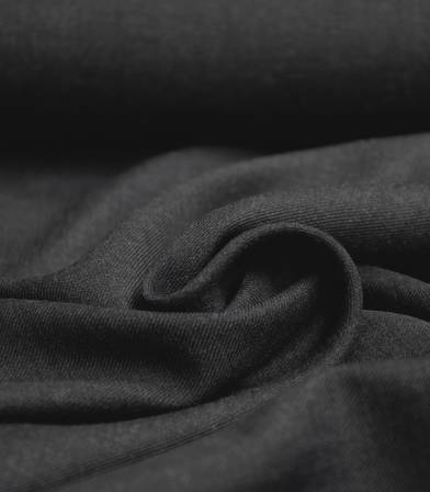 Tissu twill viscose - Gris anthracite