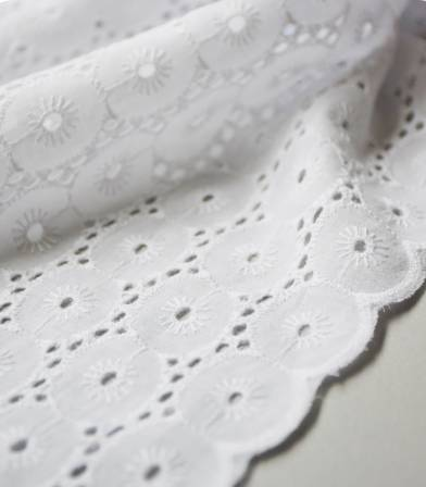 Broderie anglaise Minorque - Blanc