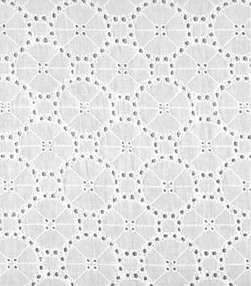 Broderie anglaise Soleil - blanc
