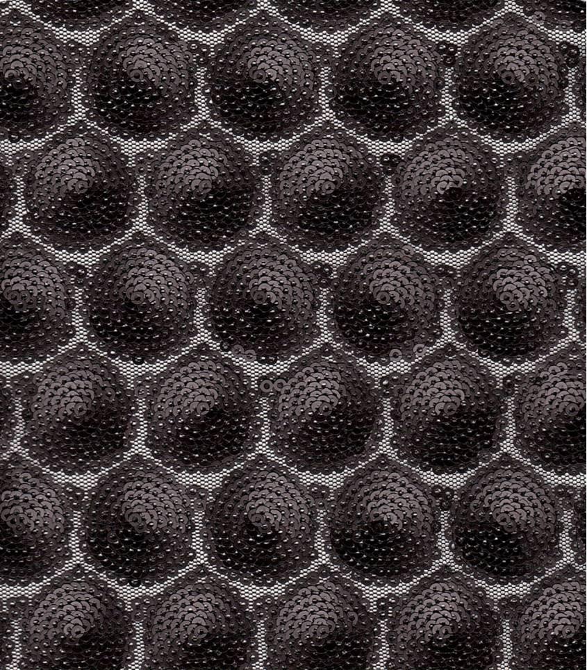 Tissu sequins noir