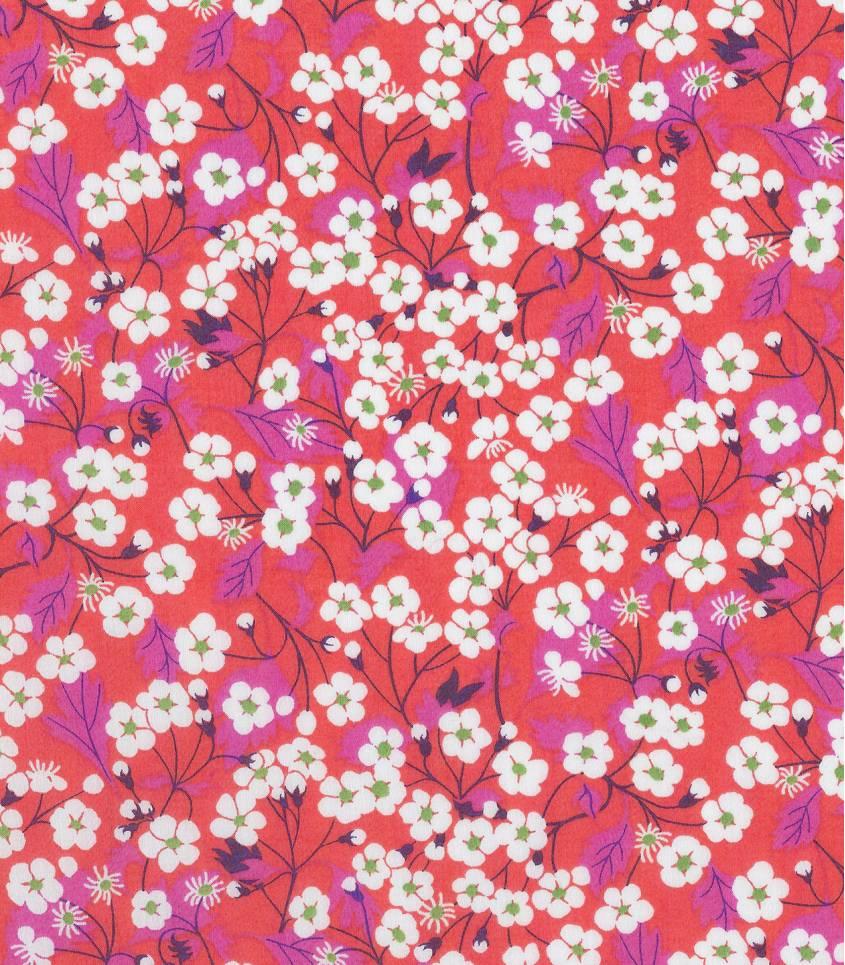 Tissu Liberty Mitsi hibiscus