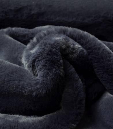 Tissu Fausse fourrure - Bleu marine