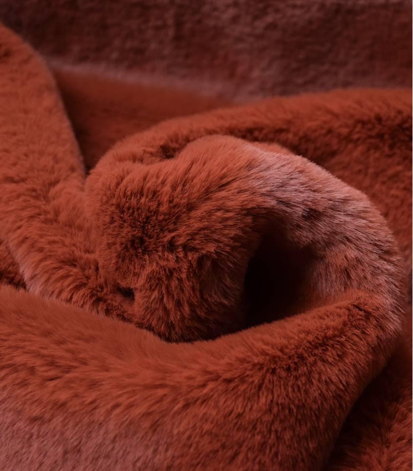 Tissu Fausse fourrure - Roux