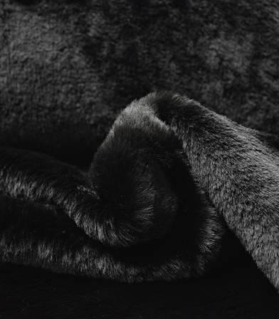 Tissu Fausse fourrure - Noir