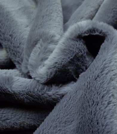 Tissu Fausse fourrure - Bleu gris