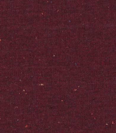 Tissu molleton chiné multico - bordeaux