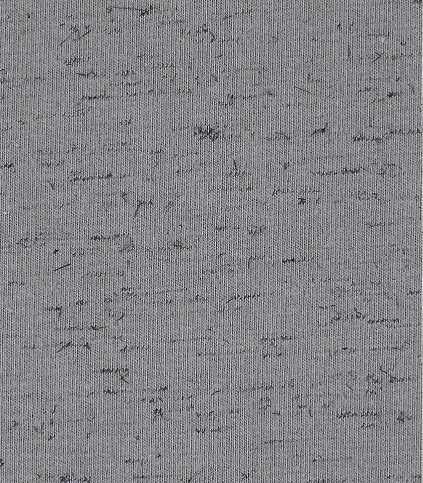 Tissu molleton gris flammé noir
