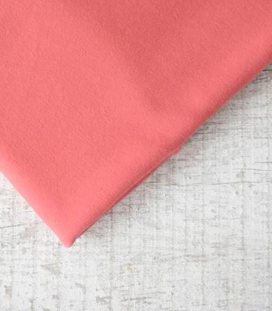 Tissu Sweat de coton bio- Rose melba