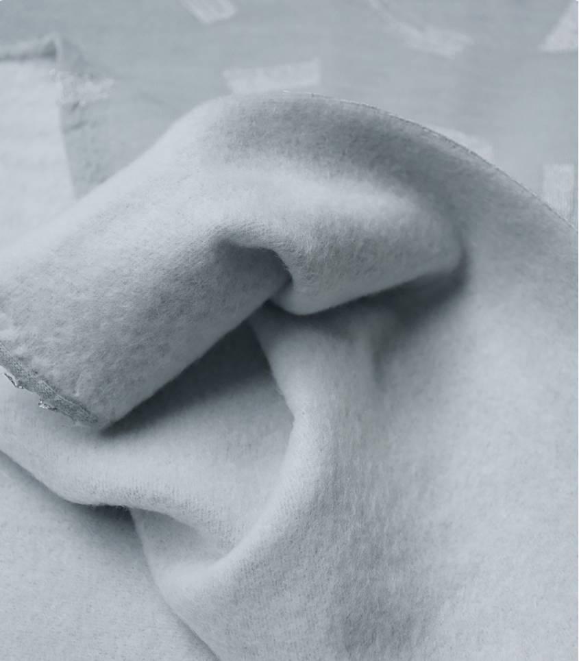Tissu Molleton Brush Vert de gris Rico Design