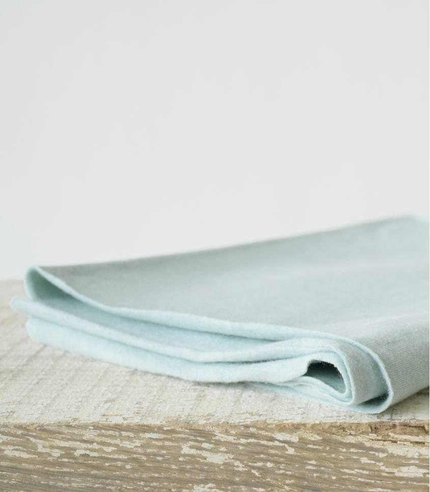 Molleton coton bio - mint