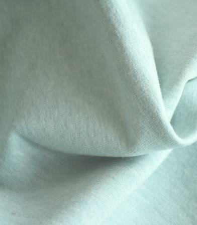 Molleton coton bio - vert mint