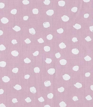 Tissu popeline lavé - Spot Rose poudré