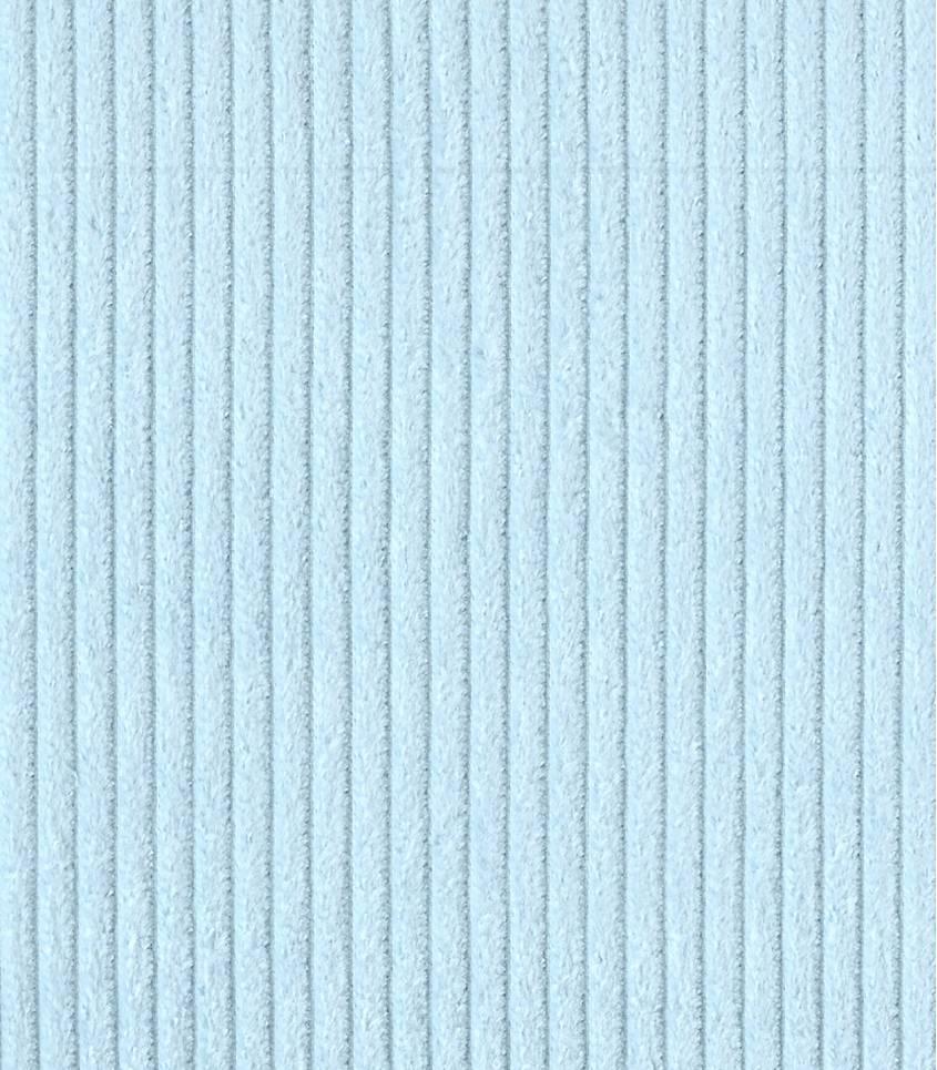Tissu velours grosses côtes glaçon