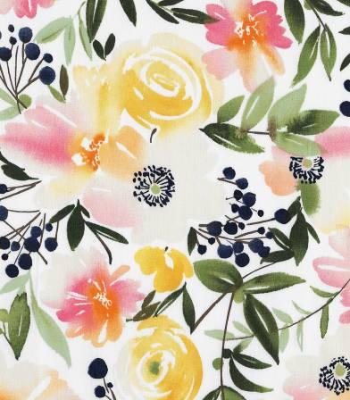 Tissu bio Floral Ensemble Cloud9