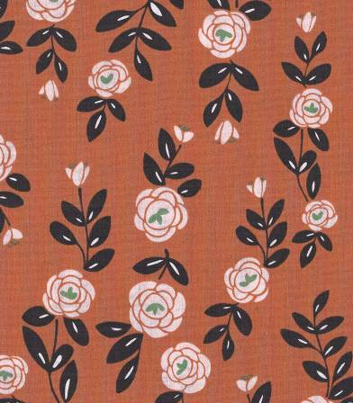 Tissu bio Rose Trellis - Light Brick Cloud9
