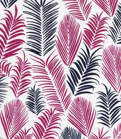 Tissu coton Froufrou Feuillage Rio - Bordeaux