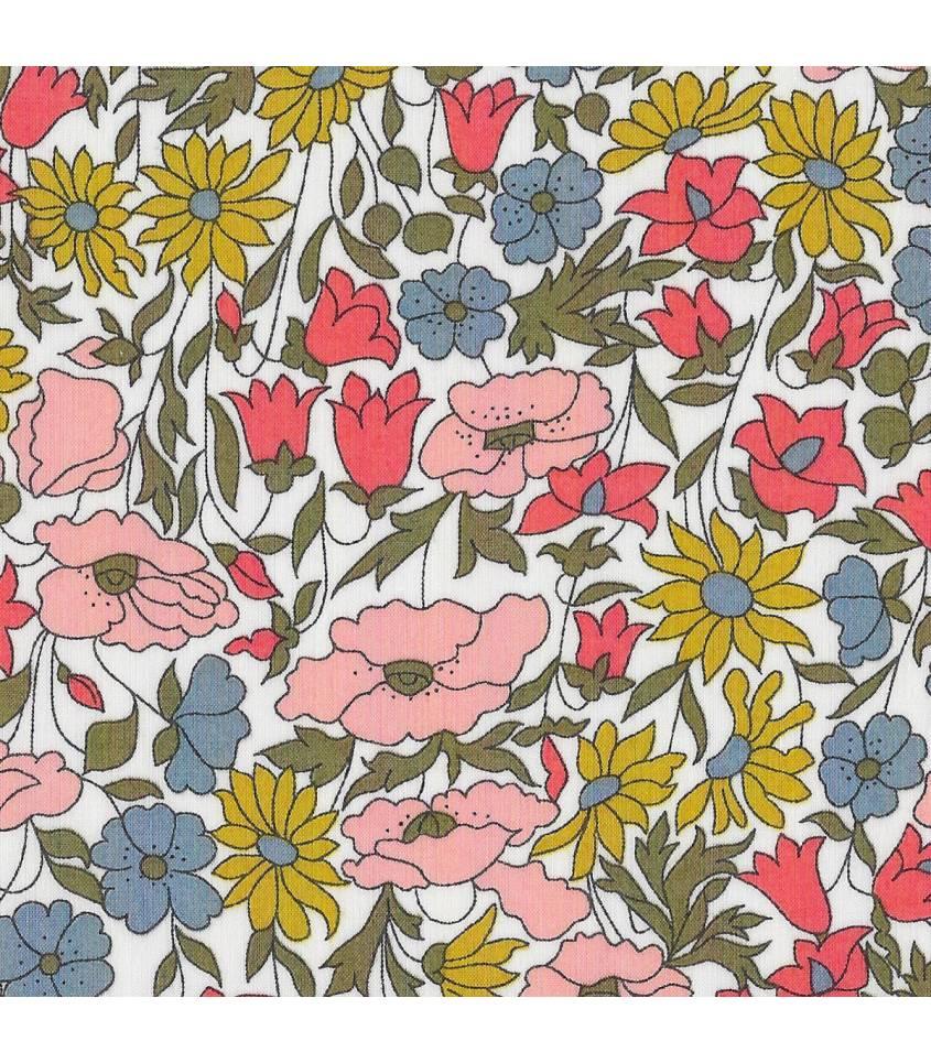 Liberty Poppy & Daisy acidulé
