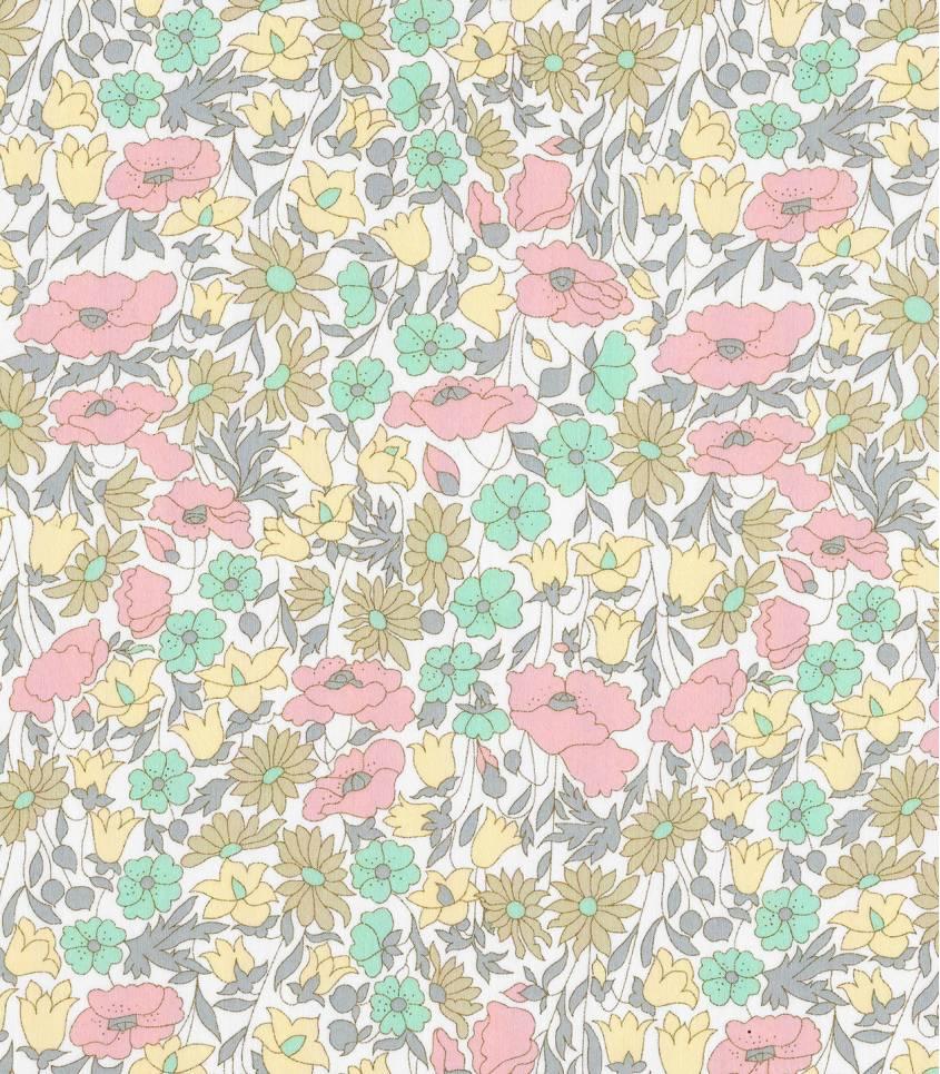Tissu Liberty Poppy & Daisy pastel