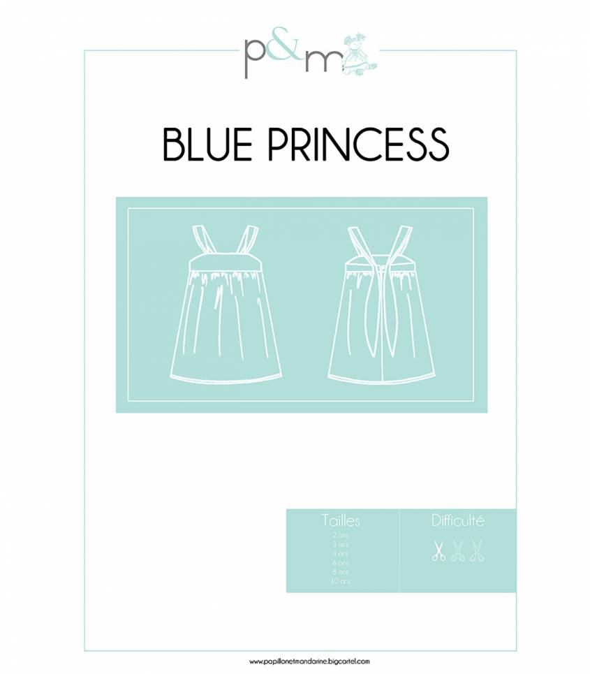 Patron Robe Blue Princess