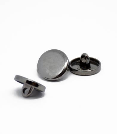 Boutons plat métal - canon de fusil