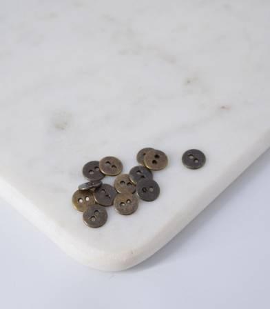 Boutons métal laiton vieilli - 9mm