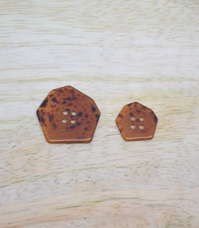 Bouton Polygone - ambre