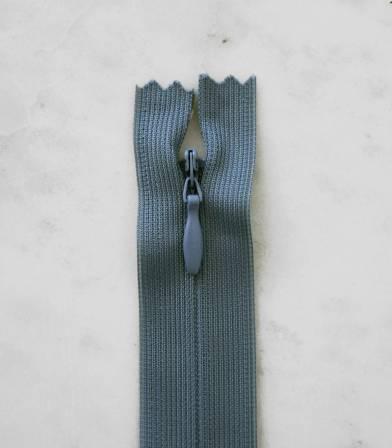 Fermeture éclair invisible- bleu/gris 533